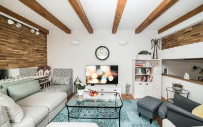 Obývací pokoj v rodinném domě