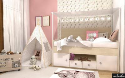 Vizualizace dětských pokojů v rodinném domě