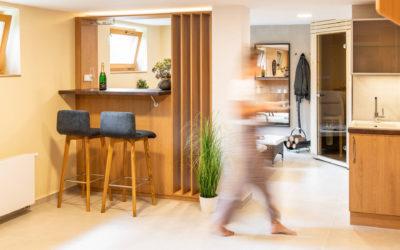 Nevyužitý suterén rodinného domu se proměnil v relaxační zónu