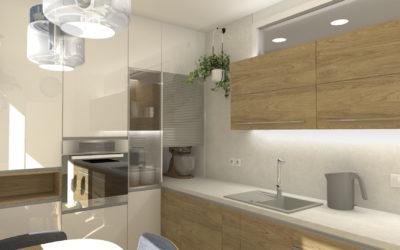 Vizualizace malé kuchyně