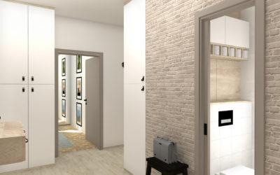 Vizualizace panelového bytu 2+1